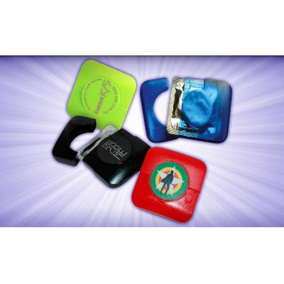 Image of Freshers University Condom in square plastic case