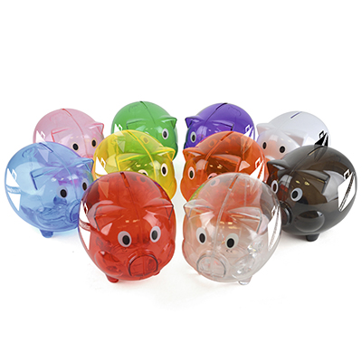 Image of Freshers University Translucent piggy bank