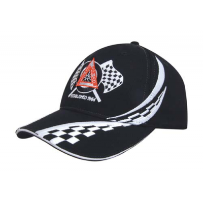 Image of Swirling Checks Baseball Cap