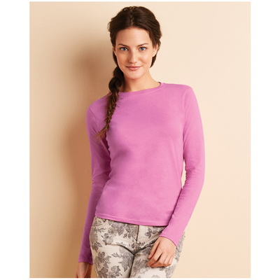 Image of Gildan Ladies Soft Style Long Sleeve T Shirt