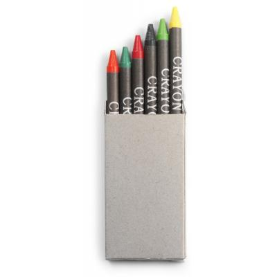 Image of Crayon set in card box, 6pc