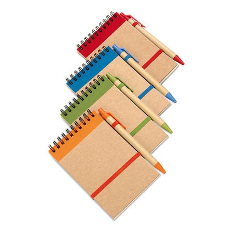 Image of Recycled paper notebook and pen