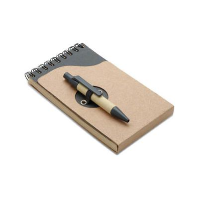 Image of Recycled note book with pen