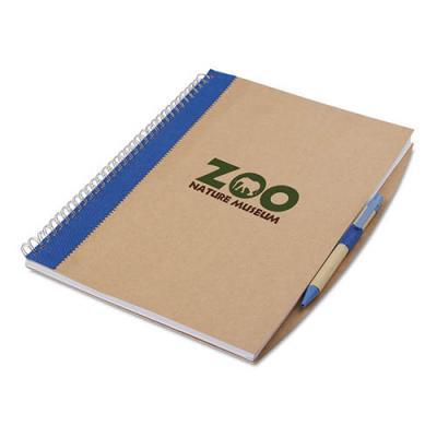 Image of A4 recycled notebook with pen