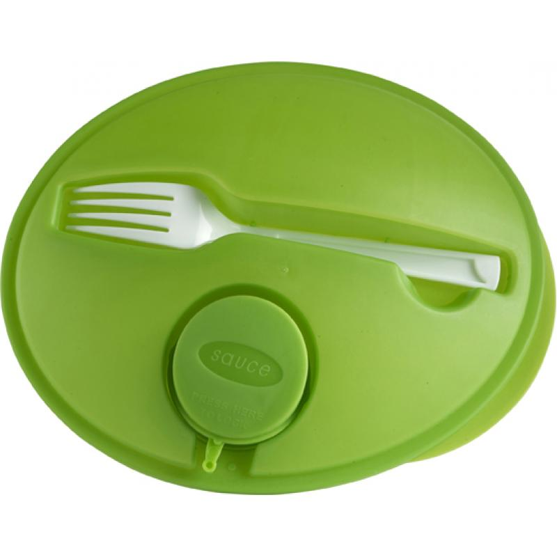 Image of Oval shaped salad box