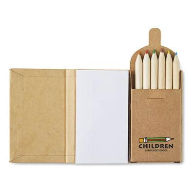 Image of Note pad with 6 colouring penc