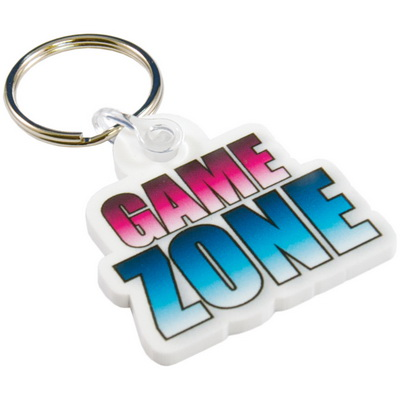 Image of White Acrylic Keyrings