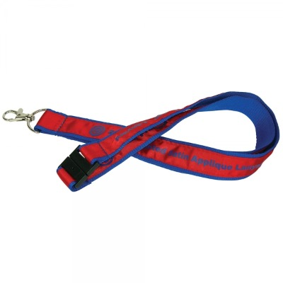 Image of 20mm Woven Satin Applique Lanyard