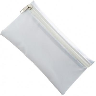Image of Nylon Pencil Case - White (White Zip)