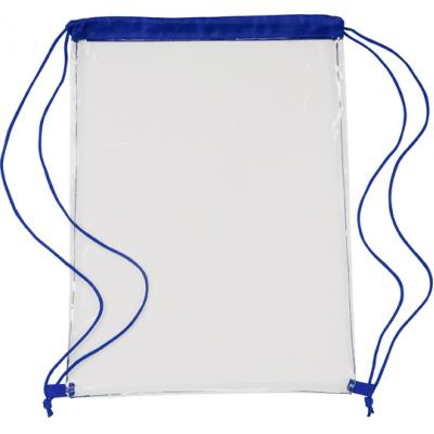 Image of Transparent PVC drawstring bag