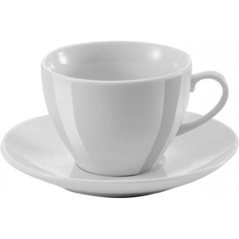 Image of Super white porcelain cup and saucer, 250cc/ml. Sold per 36pcs