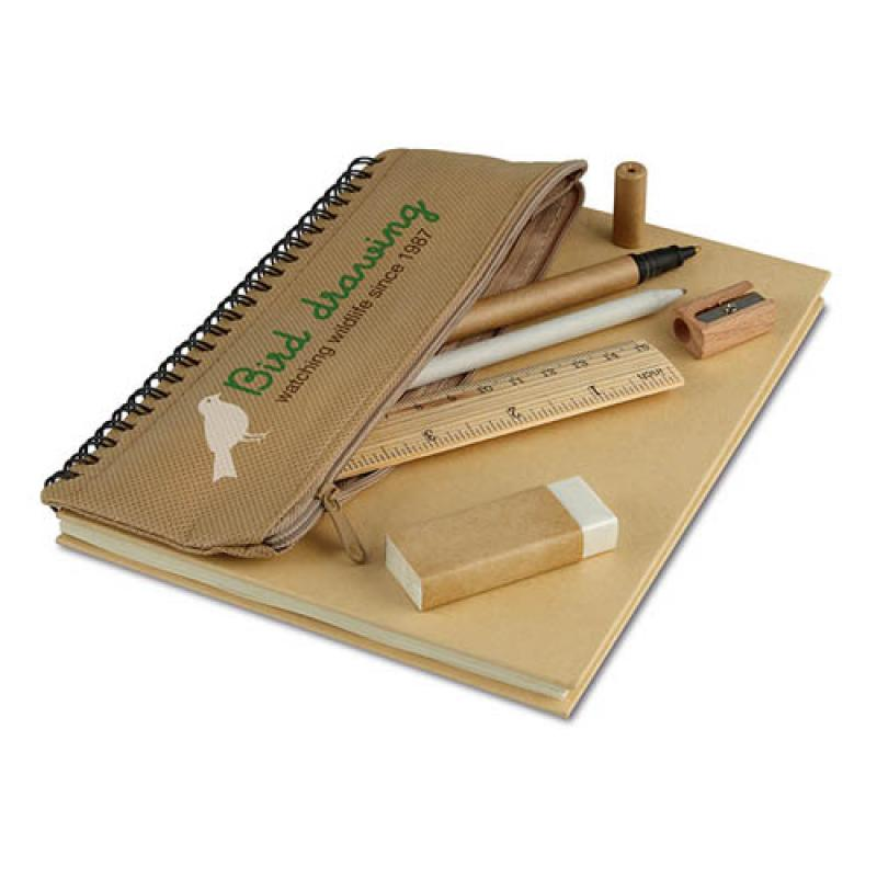 Image of Notebook With Pencil Case