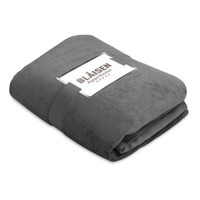 Image of Fleece blanket with sherpa