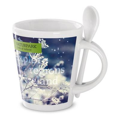 Image of Sublimation mug with spoon