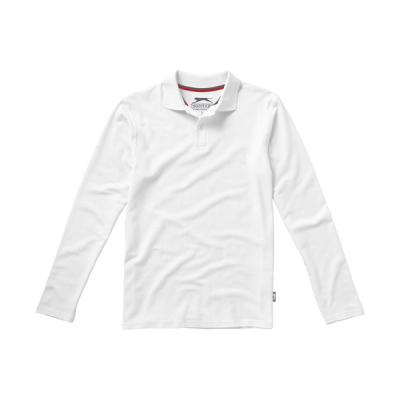 Image of Point long sleeve polo.