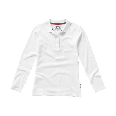 Image of Point long sleeve ladies polo.