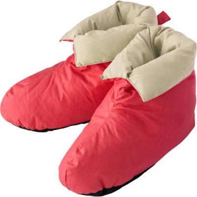 Image of Cotton house shoes with duck feather and down lining and non slip soles