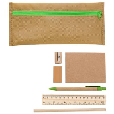 Image of ECO Non-woven pencil case with contents
