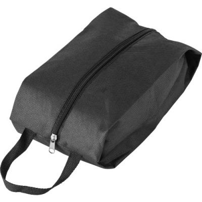 Image of Non-woven (80g/m2) shoe bag, extendable up to 12 cm on each side