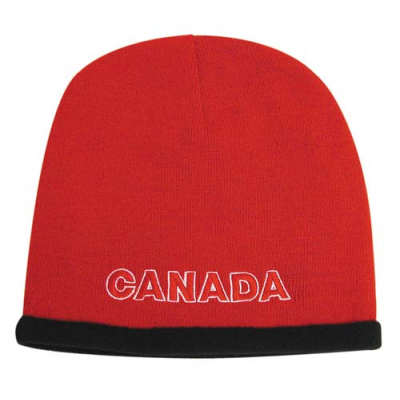 Image of Roll down acrylic and polar fleece beanie