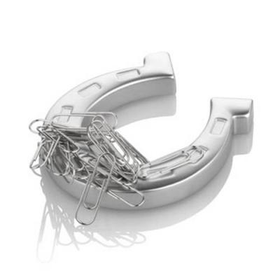 Image of Horseshoe paper clip holder