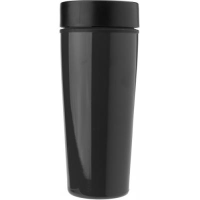 Image of Stainless steel 450ml travel mug a plastic interior