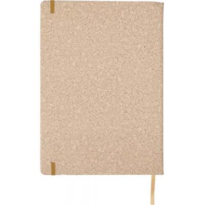 Image of Large notebook with a PU cork effect cover