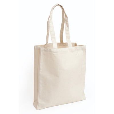 Image of 10oz Natural Cotton Canvas Bag With Gusset