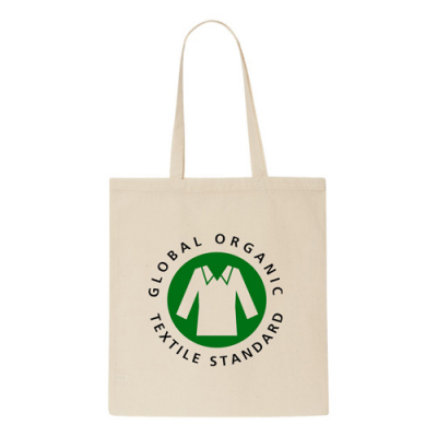 Image of 5oz Natural Organic Cotton Shopper Bag