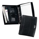 Image of Solutions Calculator A4 Zipped Leather Ring Binder