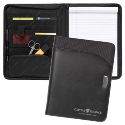 Image of Toucan A4 Zipped Leather Conference Folder