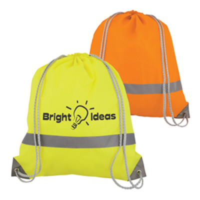 Image of Neon High Viz Drawstring Rucksack