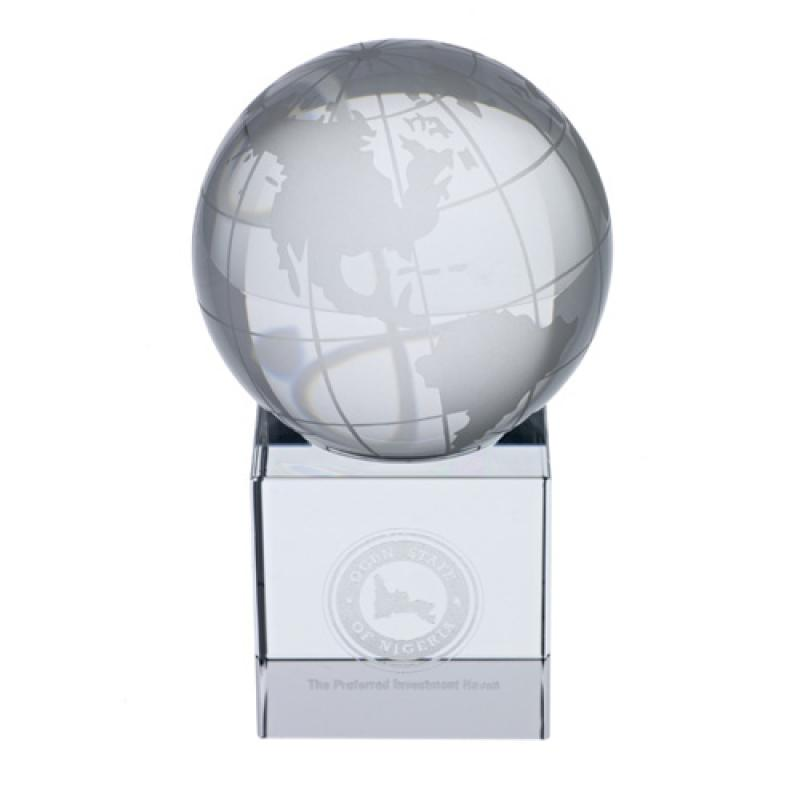 Image of CRYSTAL GLOBE GLASS AWARD