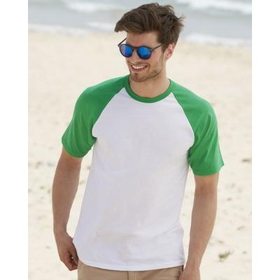 Image of Fruit of The Loom Short Sleeve Baseball T Shirt