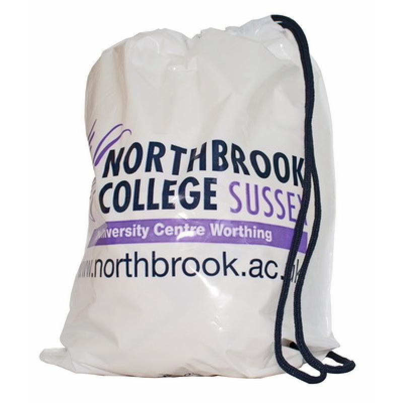 Image of Duffle Style Polythene Carrier Bag