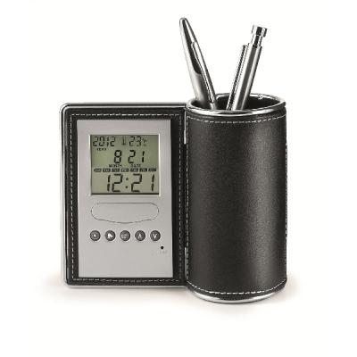 Image of Desk tidy and clock