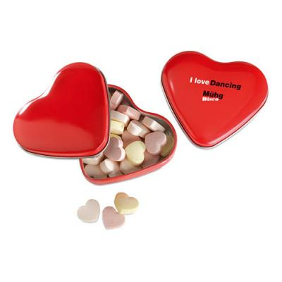Image of Heart tin box with candies