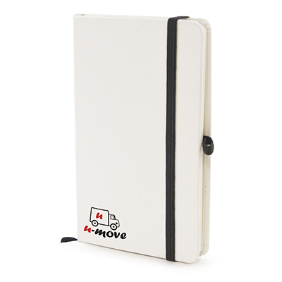Image of A6 White Hard Back Notepad