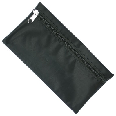 Image of Nylon Pencil Case - Black (Black Zip)