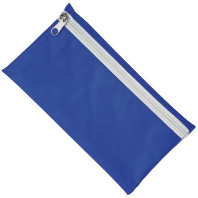 Image of Nylon Pencil Case - Royal Blue (White Zip)