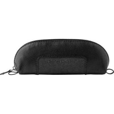 Image of Leather Charles Dickens® zipper pencil case