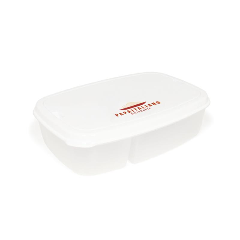 Image of Split Cell Lunch Box And Cutlery Set