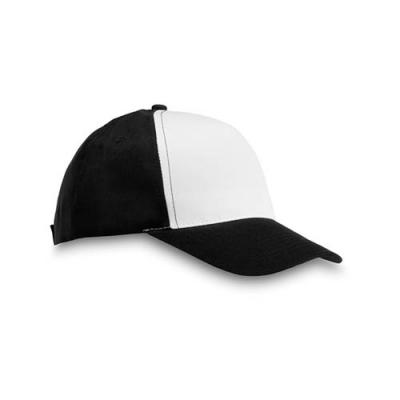 Image of Polyester 5 panel promotional baseball cap