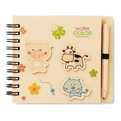 Image of Children's notepad with pencil