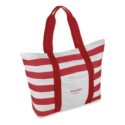 Image of Beach bag striped