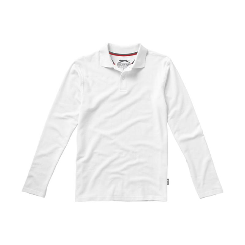 Image of Point long sleeve polo