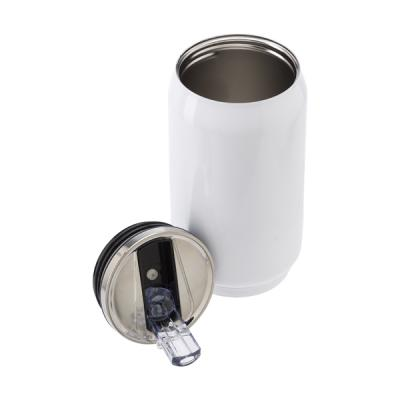 Image of Leak proof drinking can with built-in straw (300ml)