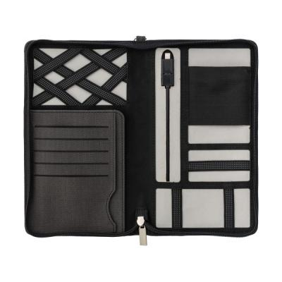 Image of Svepa PU zippered travel wallet with integrated 4000mAh power bank