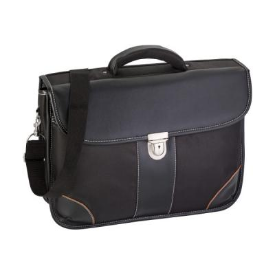 Image of Polyester (1680D) laptop bag (17') with a PU lid