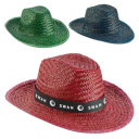 Image of Coloured Straw Sun Hat